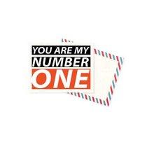"Мини открытка ""You are my number one""+ крафт конверт 10х7,5 см"