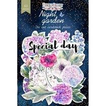 """Набор высечек для скрапбукинга """"Night Garden"""" FDSCD-04072, 63  шт"""
