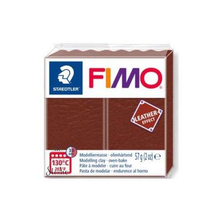Полимерная глина Fimo LEATHER effect, 57 г, №779, орех