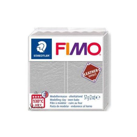 Полимерная глина Fimo LEATHER effect, 57 г, №809, серо-голубой