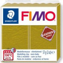 Полимерная глина Fimo LEATHER effect, 57 г, №519, оливковый
