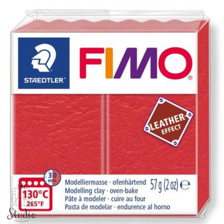 Полимерная глина Fimo LEATHER effect, 57 г, №249, арбуз