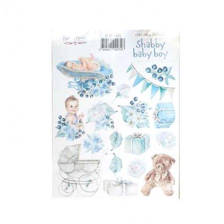 "Набор наклеек (стикеров) ""Shabby baby boy"", №072"