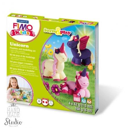 """Набор полимерной глины FIMO Kids Form & Play """"Единорожки"""" 8034 19"""