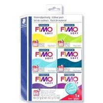 """Набор полимерной глины FIMO Soft """"Холодные цвета"""", 6 цветов по 57 г 8023 24"""