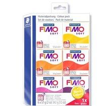 """Набор полимерной глины FIMO Soft """"Тёплые цвета"""", 6 цветов по 57 г 8023 23"""