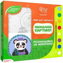 """Набор разрисовка по номерам """"Пандочка"""" ROSA KIDS"""