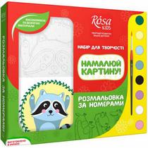 """Набор разрисовка по номерам """"Енотик"""" ROSA KIDS"""
