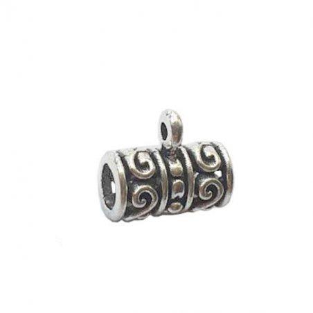 """Бейл №26 """"Трубка"""" 13х12х8мм, цвет античное серебро, 1шт"""