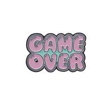 """Металлический значок """"GAME OVER"""", 3х2 см"""