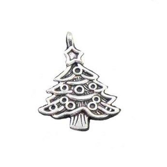 Серебряная металлическая подвеска Ёлочка №5, 2х1,1 см