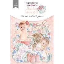 """Набор высечек для скрапбукинга """"Shabby baby girl"""" FDSCD-04076, 55 штук"""