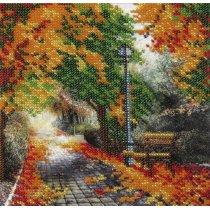 """Схема для вышивки бисером """"Осенный парк"""" Т-0263, 16х16 см"""