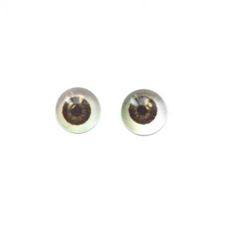 Глаза стеклянные для кукол №77307 (пара), 6 мм