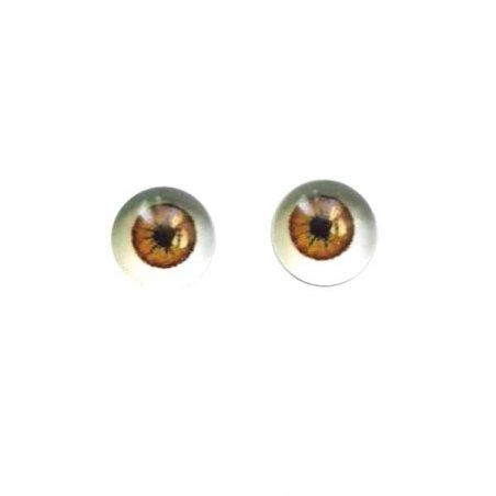 Глаза стеклянные для кукол №77310 (пара), 6 мм
