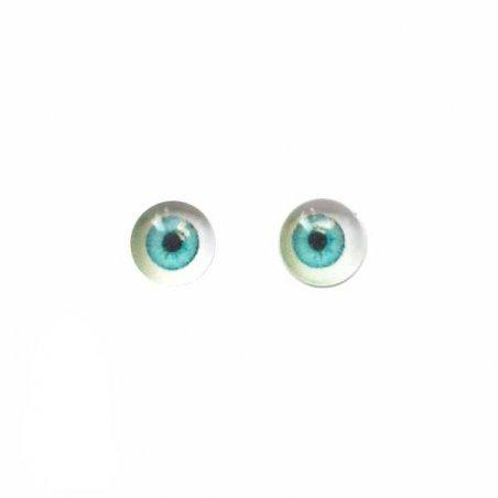 Глаза стеклянные для кукол №77311 (пара), 6 мм