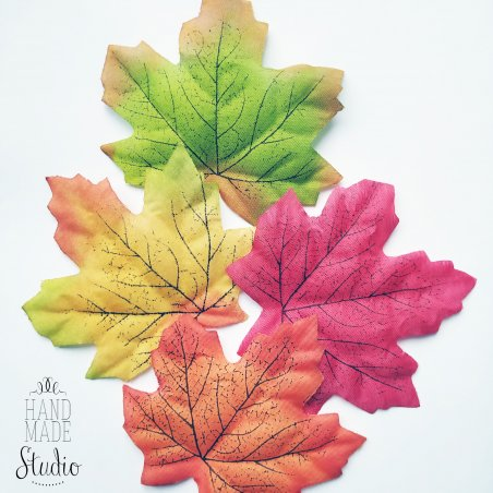 "Листья Клена ""Микс"" 8,5х7 см, 4 штуки"