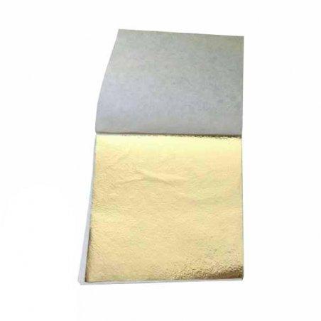 Поталь в листах, цвет - серебро, 9х9 см, 25 листов (antique silver 17)