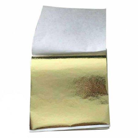 Поталь в листах, цвет - шампань, 9х9 см, 25 листов (champagne silver 09)
