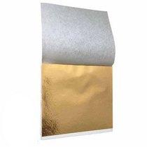 Поталь в листах, цвет - розовое золото, 9х9 см, 25 листов (champagne gold 07)