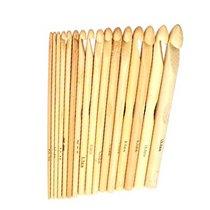 Крючок для вязания бамбуковый 9.0 mm, длина 15 см