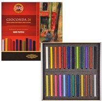 Сухая твердая мел-пастель для художественных работ KOH-I-NOOR GIOCONDA, 24 цвета