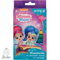 "Пластилин восковой ""Shimmer and shine"" KITE, 12 цветов, 200 г"