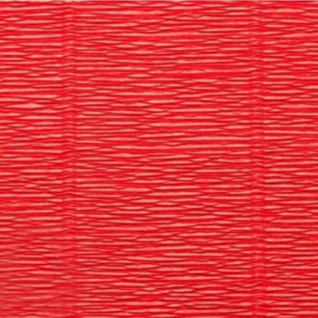 Креп-бумага (гофро-бумага) Cartotecnica Rossi,180г/м², 50смх2,5м, №618 Алый светлый