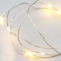 LED- гирлянда с круглыми батарейками ( холодный белый) 1 м