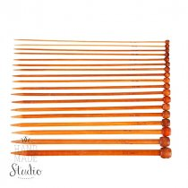 Спицы для вязания бамбуковые с заглушкой 6.5 mm, длина 25 см