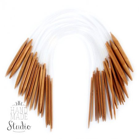 Спицы для вязания бамбуковые круговые 9.0 mm