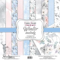 """Набор двусторонней бумаги 20х20 см """"Winter melody"""", 200г/м2, 10 листов"""