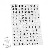 """Силиконовый штамп """"Английский алфавит и цифры"""", 10х15 см"""