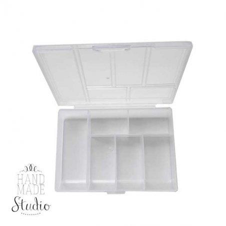 Органайзер для фурнитуры прозрачный 12*8*2,3 см, 6 ячеек
