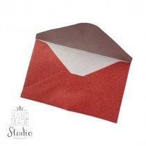 Мини-конверт из бумаги, 10х6 см, цвет красный перламутр