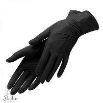 Перчатки нитриловые Nitrylex black, размер S (6-7), цвет черный, (пара)