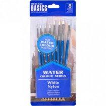 Набор художественных кистей для акварельных красок Basics 0815В-1, 8 штук