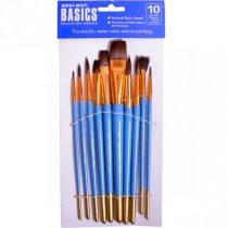 Набор художественных кистей Basics 1011-К, 10 штук