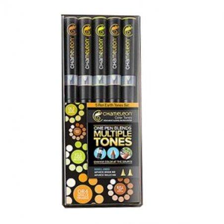 Набор 5 маркеров Chameleon Color Tones (Натуральные тона) СТ0503