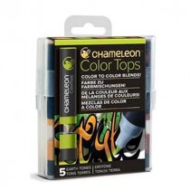 Набор 5 блендеров Chameleon 5 Color Tops Earth Tones Set СТ4503