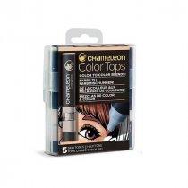 Набор 5 блендеров Chameleon 5 Color  Tops Skin Tones Set СТ4510