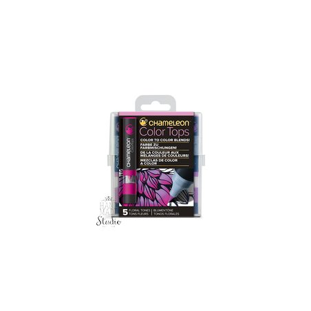 Набор 5 блендеров Chameleon 5 Color Tops Floral Tones Set СТ4512