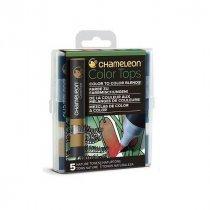 Набор 5 блендеров Chameleon 5 Color Tops Nature Tones Set СТ4514