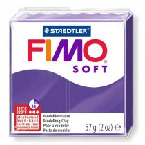 Полимерная глина Fimo Soft, 56г, №63, фиолетовый