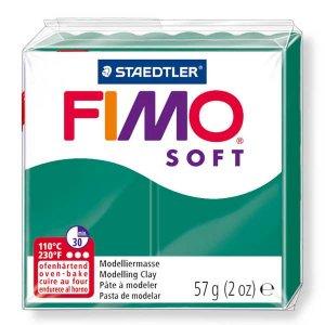 Полимерная глина Fimo Soft, 56г, №56, изумрудный