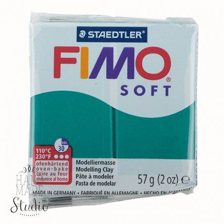 Полимерная глина Fimo Soft, 57 г, №56, изумрудный