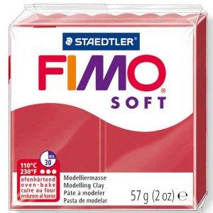 Полимерная глина Fimo Soft, 56г, №26, вишневый