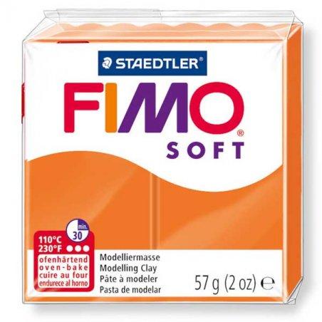 Полимерная глина Fimo Soft, 57 г, №42, мандариновый