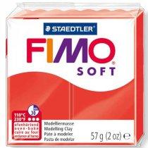 Полимерная глина Fimo Soft, 56г, №24, красный