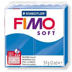 Полимерная глина Fimo Soft, 56г, №37, ярко-синий